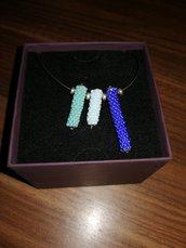 Collana pendenti di perline