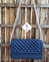Pochette elegante blu