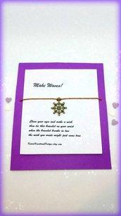 Braccialetto amicizia make a wish con charm a forma di timone, braccialetto uomo, idea regalo san valentino per lui