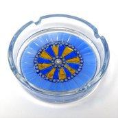 Posacenere in Vetro o Ceramica con decoro in Mosaico