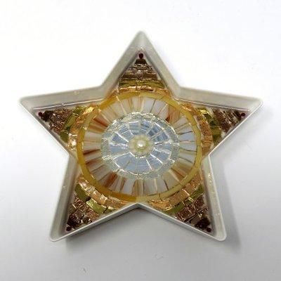Stella con decoro in Mosaico nelle tonalità del Bronzo