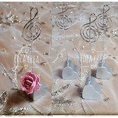 Segnaposto nota musicale matrimonio