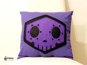 Fodera cuscino ispirata a Sombra di Overwatch