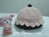 Cappellino cuffietta neonata