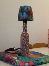 Lampada brillantini e decoupage