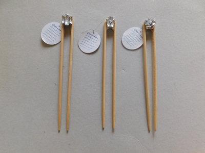 ferma capelli in bamboo decorato mod.forcina