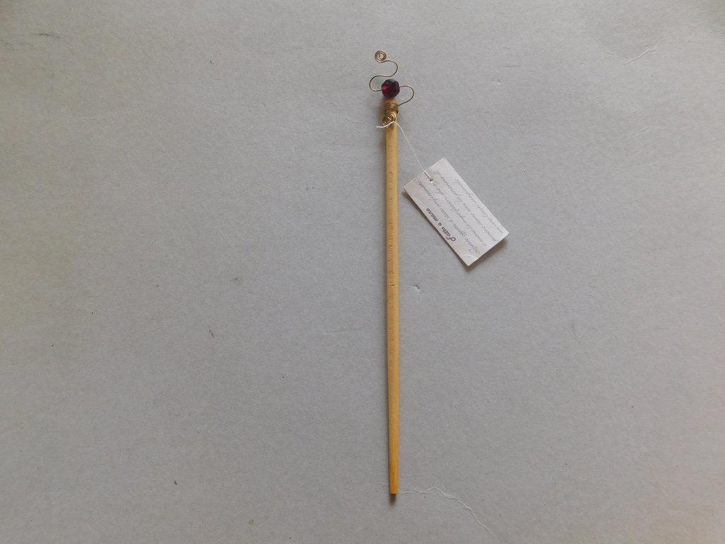 ferma capelli in bamboo decorato mod.granata