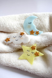 bomboniera luna stelle e nuvolette
