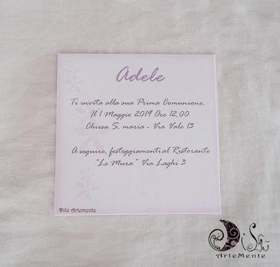 Invito Comunione Bimba Dollina Card 10x10 Cm Completa Di Busta Invi Su Misshobby