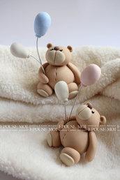 bomboniera orsetti con palloncini