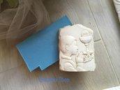 Stampo prima comunione bimbo quadretto effetto pietra