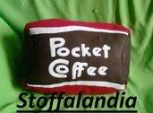 POCKET COFFEE CUSCINO IDEA REGALO