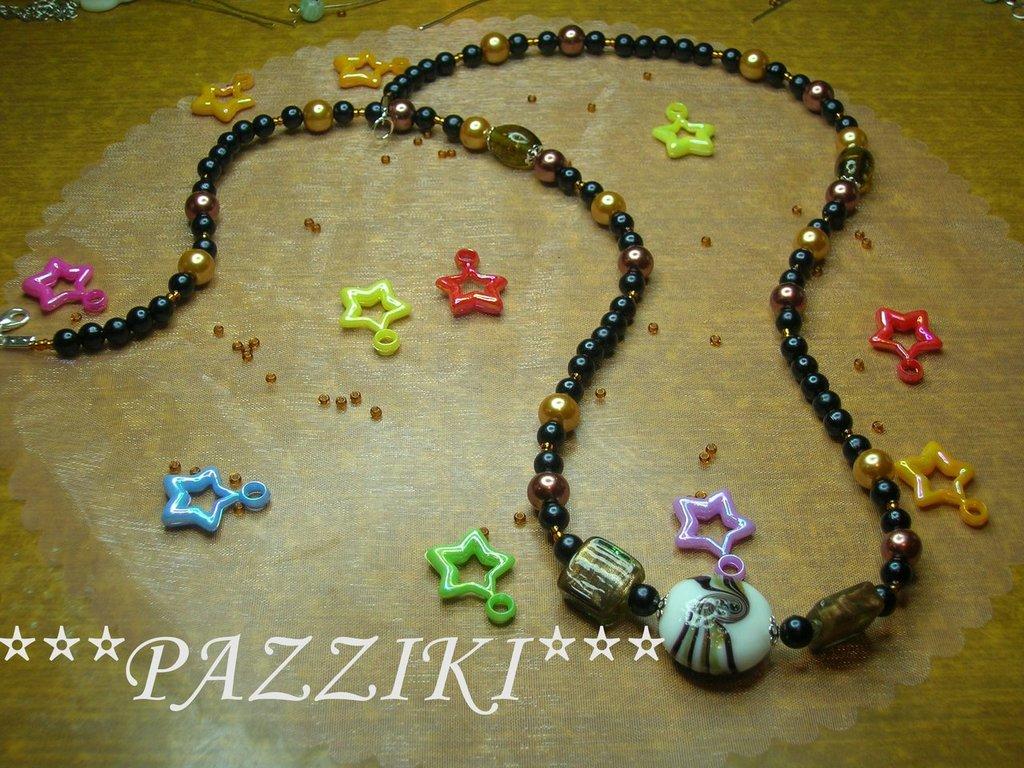 collana perline nere