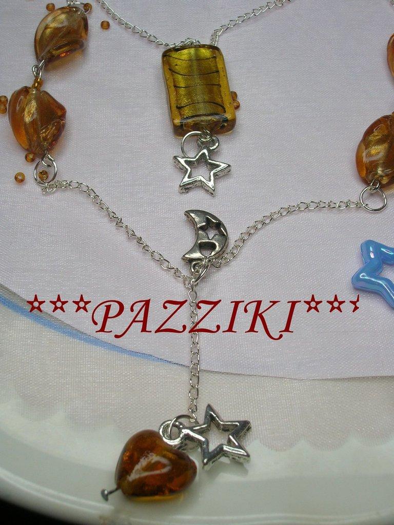 collana charms e perle topazio