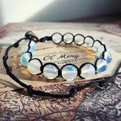 Bracciale Shamballa con opale