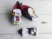 Scarpe bimbo Topolino + papillon