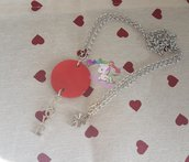 Collana LOVE- collana madreperla rossa e scritta love
