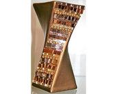 Vaso in Ceramica con Decoro lineare in Mosaico nelle tonalità del Bronzo e Argento