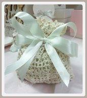 Sacchettino Uncinetto con confetti Wedding matrimonio Battesimo