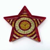 Stella con decoro in Mosaico nelle tonalità del Rosso e Oro