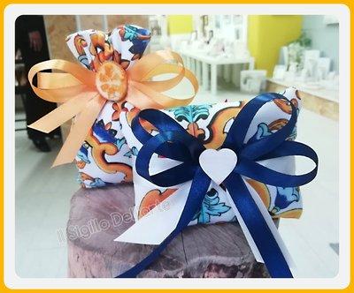 Sacchettini Stile Siciliano Wedding con confetti