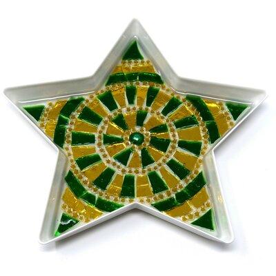 Stella con decoro in Mosaico nelle tonalità del Verde e Oro