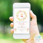 Invito Digitale Ballerina - Invito Whatsapp - Compleanno bambina - Invito digitale Whatsapp - Festa di Compleanno