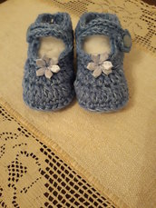 Scarpine neonato lana