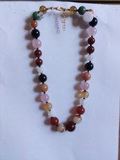 Collana perle multicolore