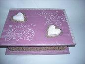 Romantica scatola portagioie,portagioielli,portaoggetti ,contenitore per lettere,contenitore per foto