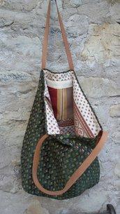 borsa in tessuto di arredamento capiente e versatile