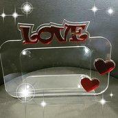 cornice plexiglass 'amore'