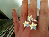 Anello con stelle in Swarovski