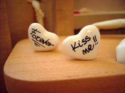 Love Message Ring - Kiss Me / Forever