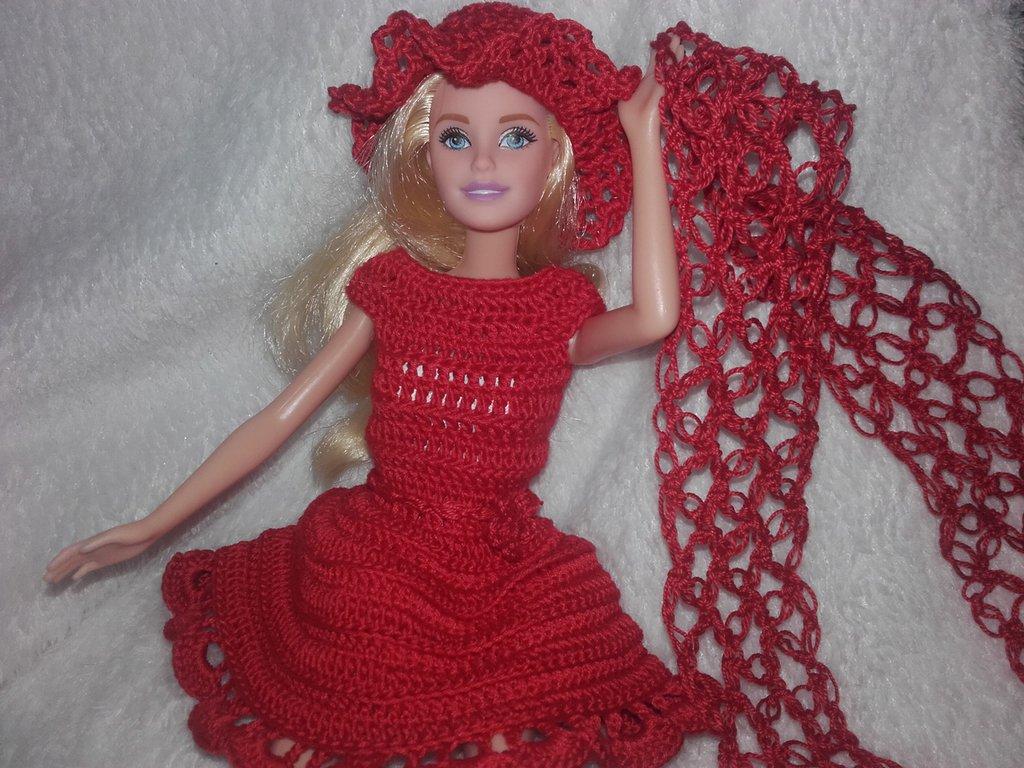 pantaloni Bambole VESTITI adatto per Barbie pullover BERRETTO Lavoro A Mano