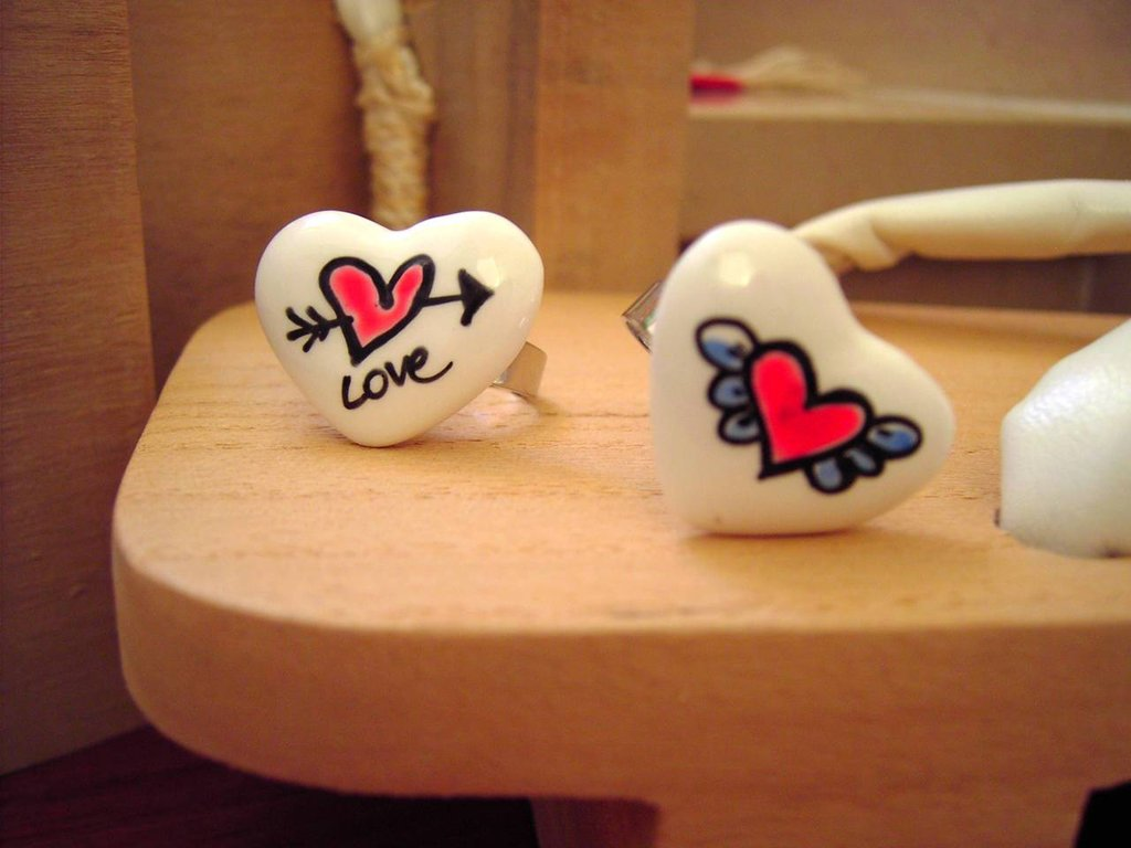 Love Message Ring - cuori