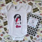 DAVID BOWIE body bebe, dipinto a mano, body personalizzati, vestiti neonato, tutte le taglie