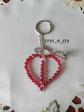 Portachiavi cuore in mezzo cristallo San Valentino