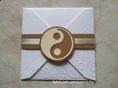 Partecipazone matrimonio Yin Yang