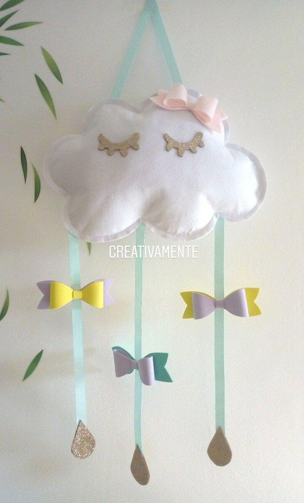 Decorazione cameretta bambina a forma di nuvola