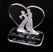 Segnaposto personalizzabile per matrimonio in plexiglas