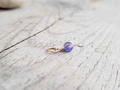 Pendente Tanzanite, ciondolo in Tanzanite, piccolo pendente in pietra, ideale regali per lei o regali di anniversario