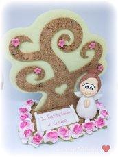 Cake Topper Battesimo - Bomboniera Albero della vita e angelo