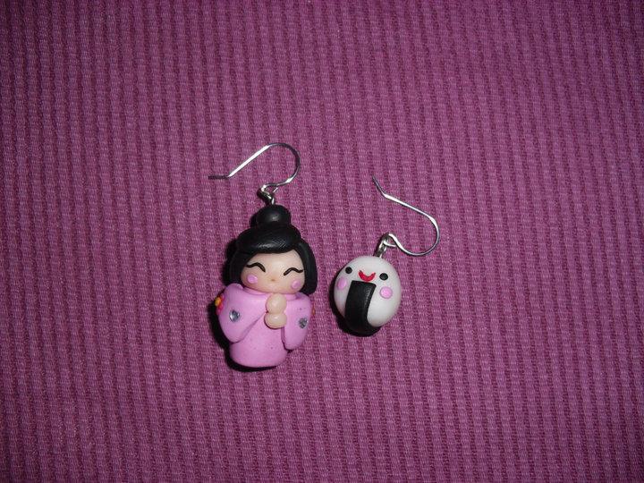 orecchini kokeshi