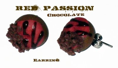 Red Passion Chocolate Earrings