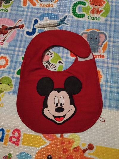 Bavaglino MICKEY MOUSE, bavaglini impermeabili, bavaglini personalizzati, regalo originale per il bebé