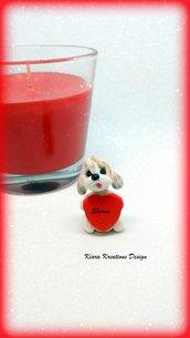Decorazione con cane shih tzu con cuore personalizzato con il nome, idea regalo per san valentino per amanti dei cani