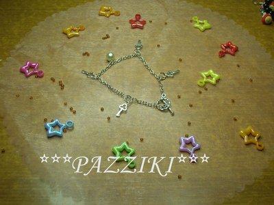 bracciale chiavi e perla vera