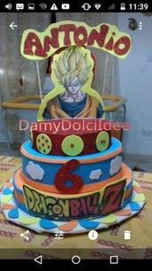 Torta finta Dragon ball compleanno