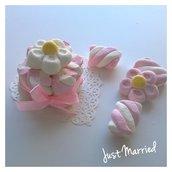 Mini cake in caramelle marshmallow